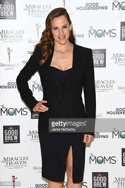 Actress Jennifer Garner attends The MOMS Miracles From Heaven Mamarazzi Screening at Hearst Tower on March 16 2016 in New York City