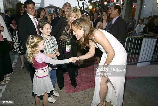 "Actress Jennifer Garner attends the premiere of the film ""13 Going on 30"" at the Mann Village Theatre on April 14, 2004 in Los Angeles, California."