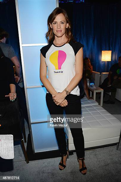 Actress Jennifer Garner attends the Think It Up education initiative telecast for teachers and students hosted by Entertainment Industry Foundation...