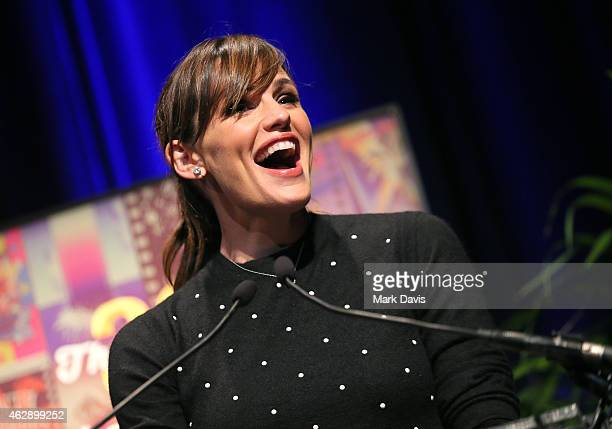 Actress Jennifer Garner speaks at the 2015 Outstanding Performer of the Year Award at the 30th Santa Barbara International Film Festival at the...
