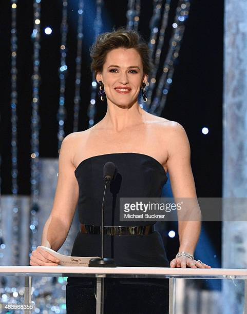 Actress Jennifer Garner speaks onstage during 20th Annual Screen Actors Guild Awards at The Shrine Auditorium on January 18 2014 in Los Angeles...