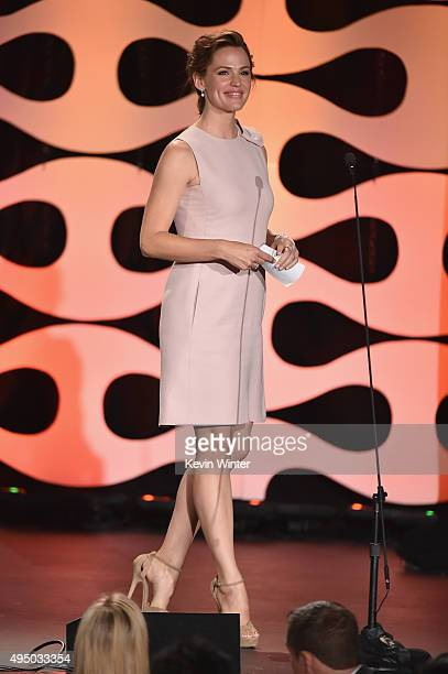 Actress Jennifer Garner walks onstage during the 29th American Cinematheque Award honoring Reese Witherspoon at the Hyatt Regency Century Plaza on...