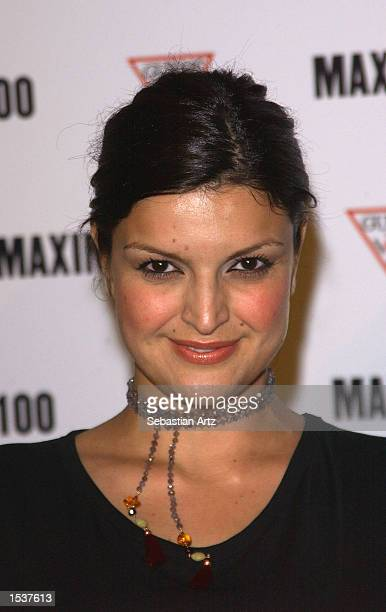 Actress Jennifer Gimenez arrives at Maxim's Hot100 party April 25 2002 in Los Angeles CA