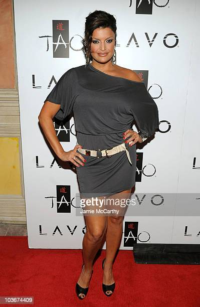 Actress Jennifer Gimenez attends the TAO and LAVO anniversary weekend held at TAO in the Venetian Resort Hotel Casino on October 3 2009 in Las Vegas...