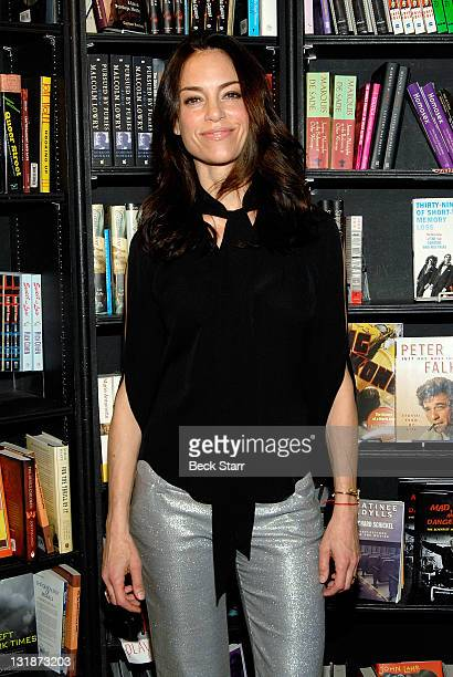 Actress Jennifer Grant daughter of actor Cary Grant signs copies of her new book Good Stuff A Reminiscence Of My Father Cary Grant at Book Soup on...