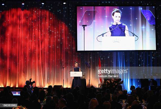 Actress Jennifer Grant speaks onstage at the 2013 Princess Grace Awards Gala at Cipriani 42nd Street on October 30 2013 in New York City