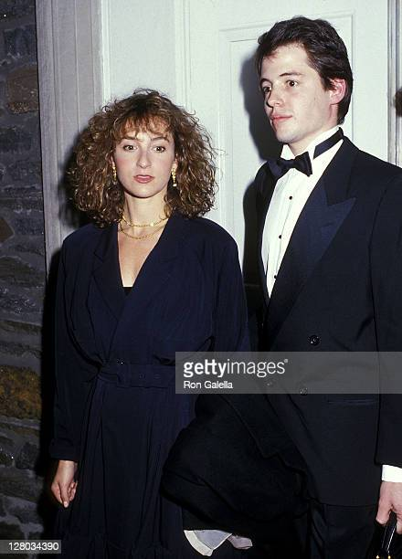 Actress Jennifer Grey and actor Matthew Broderick attend the Writers Theatre Special Benefit Reading of Poor Richard's Theatricks on October 26 1987...