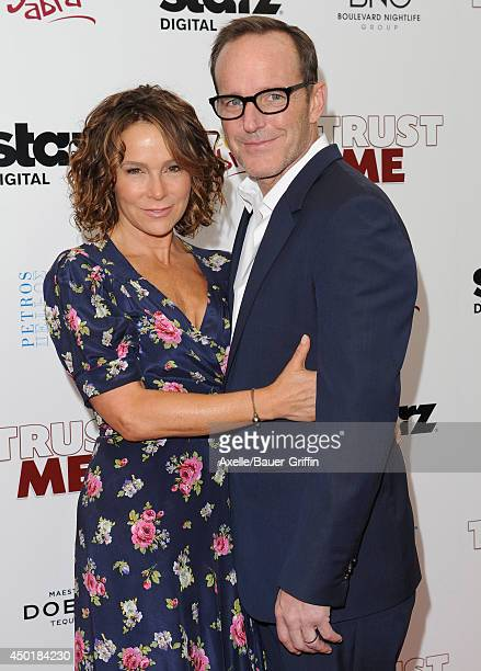 Actress Jennifer Grey and actor/director Clark Gregg arrive at the Los Angeles premiere of 'Trust Me' at the Egyptian Theatre on May 22 2014 in...