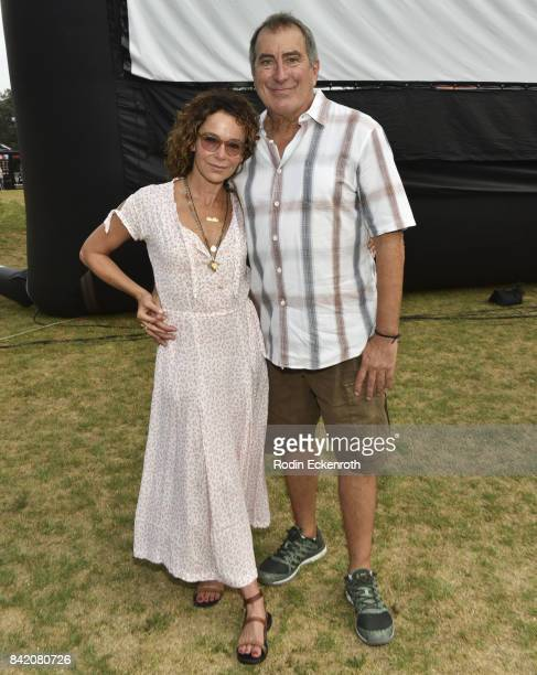 Actress Jennifer Grey and choreographer Kenny Ortega pose for portrait at the special screening of 'Dirty Dancing' at Will Rogers State Historic Park...