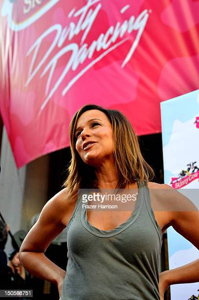 """Actress Jennifer Grey arrives at the 25th Anniversary Of Lionsgate's """"Dirty Dancing"""" screening at Grauman's Chinese Theatre on August 21, 2012 in..."""