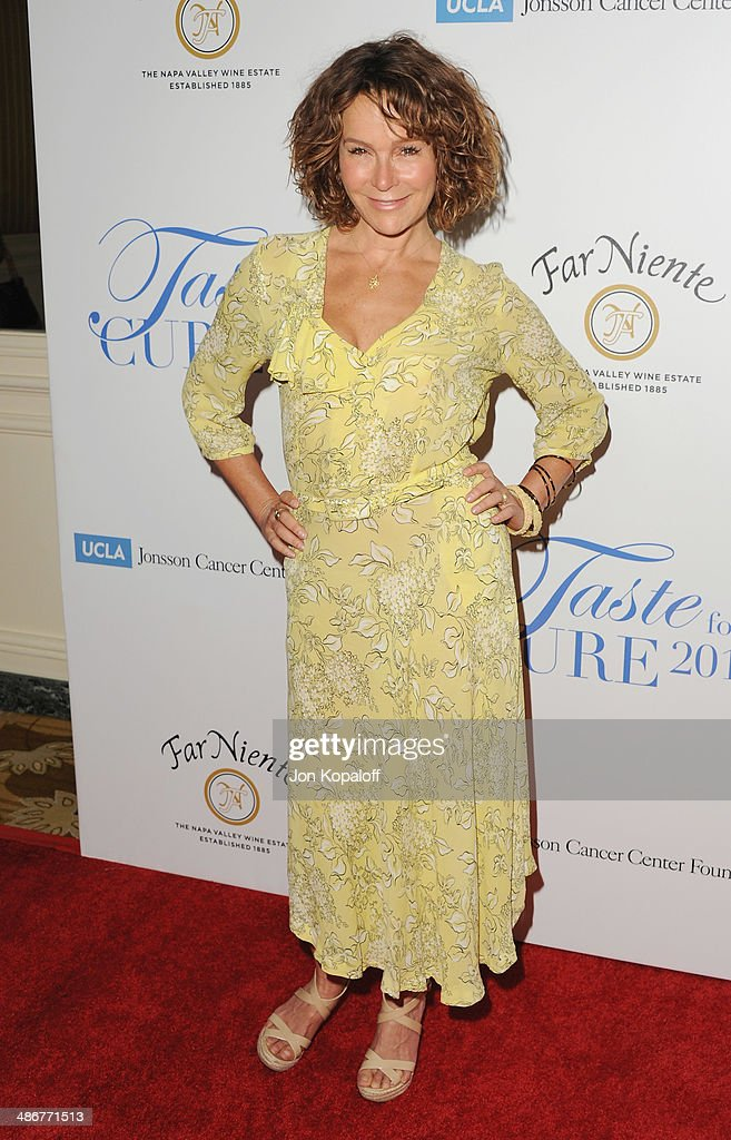Actress Jennifer Grey arrives at the Jonsson Cancer Center Foundation's 19th Annual 'Taste For A Cure' at Regent Beverly Wilshire Hotel on April 25, 2014 in Beverly Hills, California.