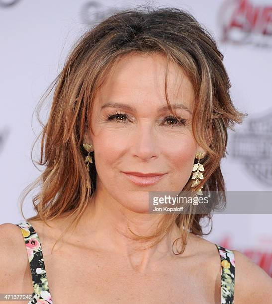 Actress Jennifer Grey arrives at the Los Angeles Premiere Marvel's Avengers Age Of Ultron at Dolby Theatre on April 13 2015 in Hollywood California