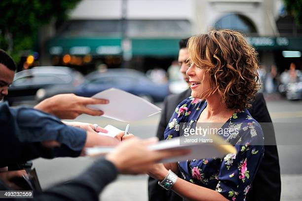 Actress Jennifer Grey arrives at the Los Angeles Premiere of 'Trust Me' at the Egyptian Theatre on May 22 2014 in Hollywood California