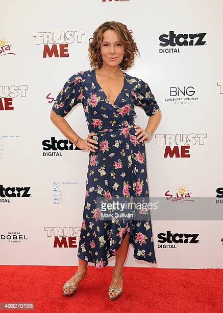 Actress Jennifer Grey arrives at the Los Angeles premiere of Trust Me at the Egyptian Theatre on May 22 2014 in Hollywood California