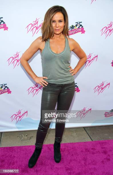 Actress Jennifer Grey arrives at the Skinny Cow brand celebration of the 25th anniversary of Lionsgate's 'Dirty Dancing' screening at Grauman's...