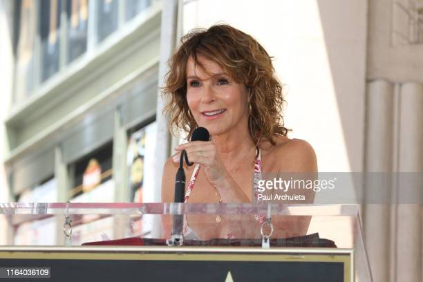 Actress Jennifer Grey attends a ceremony to honor Kenny Ortega with a star on the Hollywood Walk Of Fame on July 24, 2019 in Hollywood, California.