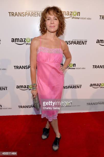 Actress Jennifer Grey attends the Amazon red carpet premiere screening for brandnew dark comedy 'Transparent' The Theatre at Ace Hotel on September...