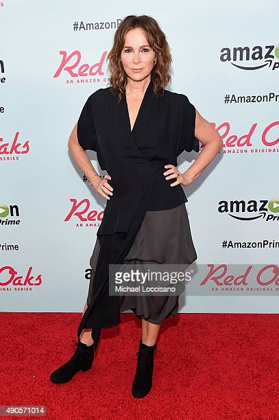 Actress Jennifer Grey attends the Amazon red carpet premiere for the brand new original comedy series Red Oaks on September 29 2015 in New York City