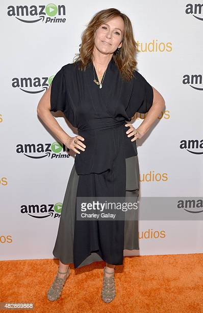 Actress Jennifer Grey attends the 'Red Oaks' panel discussion at the Amazon Studios portion of the 2015 Summer TCA Tour on August 3 2015 in Beverly...