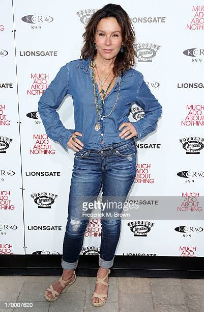 Actress Jennifer Grey attends the screening of Lionsgate and Roadside Attractions' Much Ado About Nothing at Oscar's Outdoors Hollywood theater on...