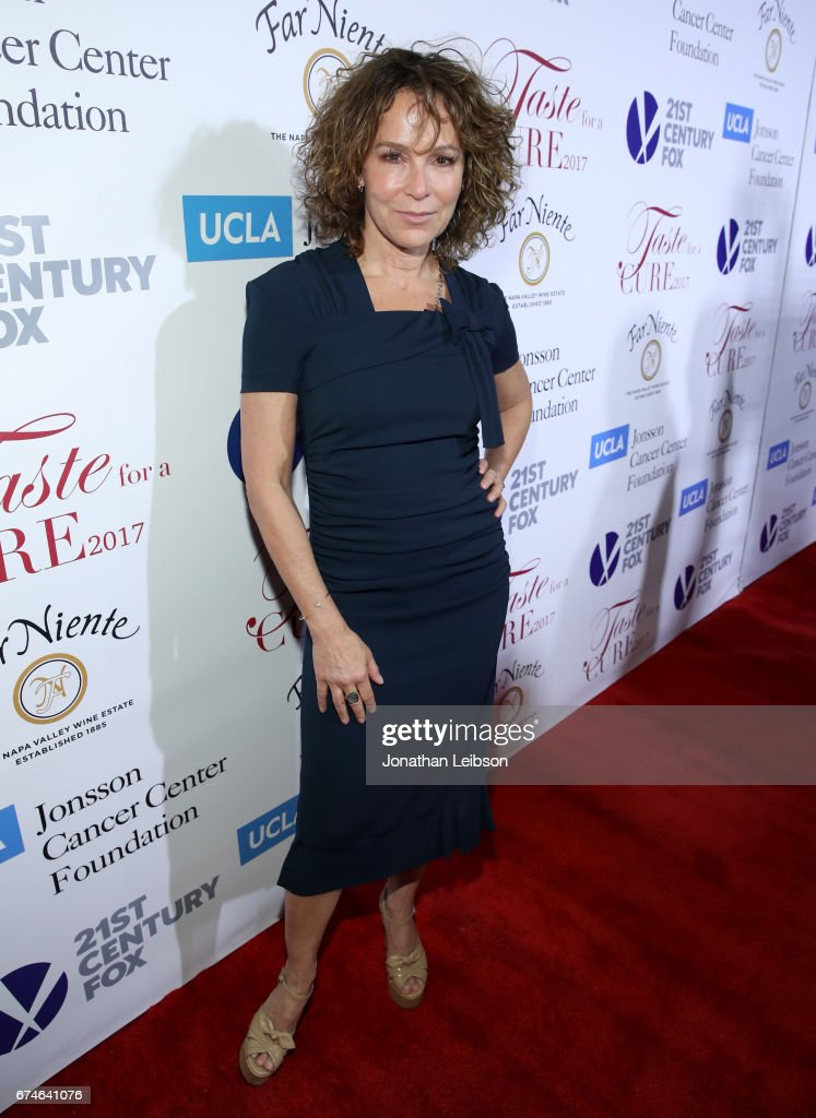 Actress Jennifer Grey attends the UCLA Jonsson Cancer Center Foundation Hosts 22nd Annual 'Taste for a Cure' event honoring Yael and Scooter Braun at the Regent Beverly Wilshire Hotel on April 28, 2017 in Beverly Hills, California.