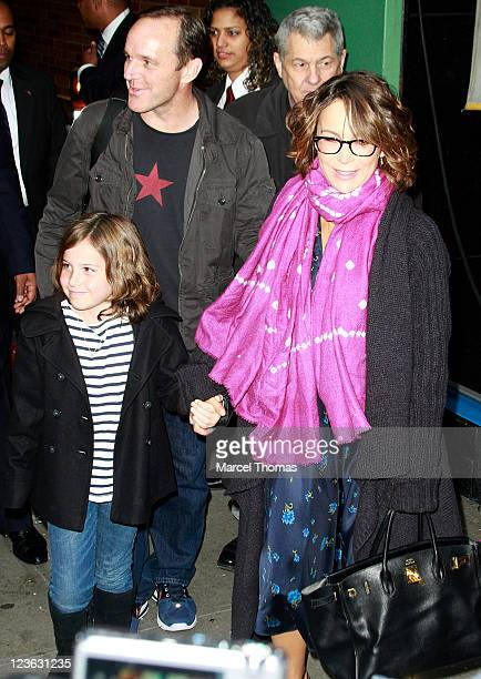 Actress Jennifer Grey husband Clark Gregg and daughter Stella Gregg are seen on the Streets of Manhattan on November 24 2010 in New York City