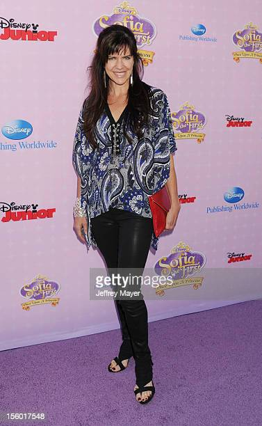 Actress Jennifer Hale arrives at the Disney Channel's Premiere Party For 'Sofia The First Once Upon A Princess' at Walt Disney Studios on November 10...