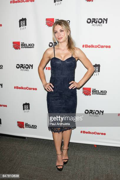 Actress Jennifer Holland attends the screening of The Belko Experiment at Aero Theatre on March 3 2017 in Santa Monica California