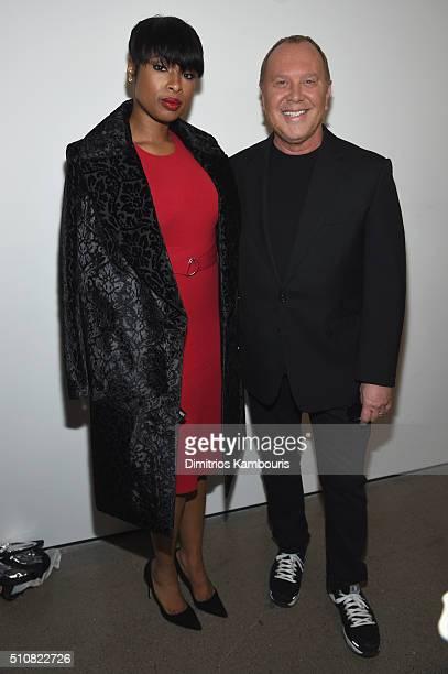 Actress Jennifer Hudson and designer Michael Kors pose backstage at the Michael Kors Fall 2016 Runway Show during New York Fashion Week The Shows at...