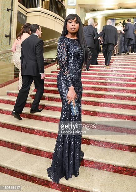 Actress Jennifer Hudson arrive at the Oscars at Hollywood Highland Center on February 24 2013 in Hollywood California at Hollywood Highland Center on...