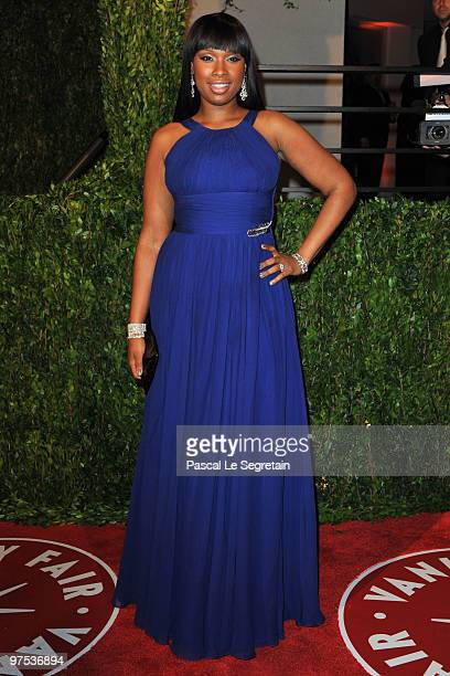 Actress Jennifer Hudson arrives at the 2010 Vanity Fair Oscar Party hosted by Graydon Carter held at Sunset Tower on March 7 2010 in West Hollywood...