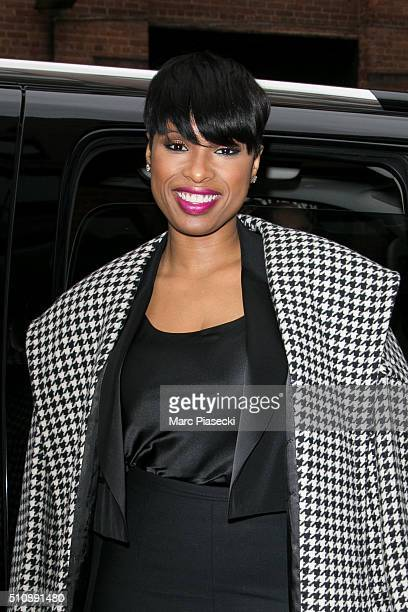 Actress Jennifer Hudson arrives to attend the DKNY fashion show on February 17 2016 in New York City