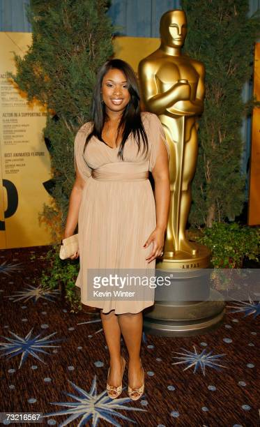 Actress Jennifer Hudson attends the 79th annual Academy Award nominees luncheon held at the Beverly Hilton Hotel on February 5 2007 in Beverly Hills...