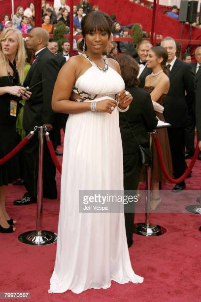 Actress Jennifer Hudson attends the 80th Annual Academy Awards at the Kodak Theatre on February 24, 2008 in Los Angeles, California.