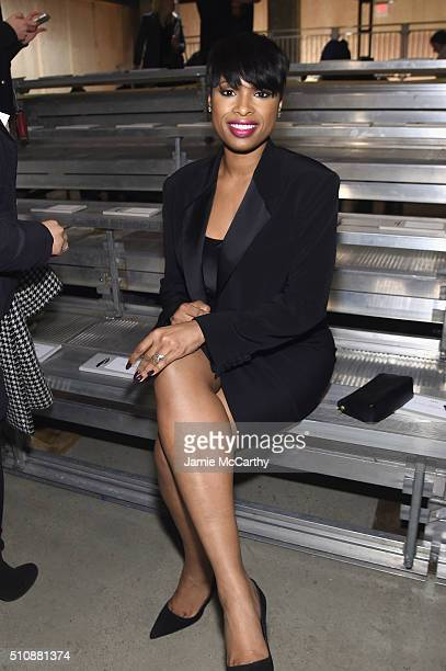 Actress Jennifer Hudson attends the DKNY Women's Fall 2016 fashion show during New York Fashion Week The Shows at Skylight Modern on February 17 2016...