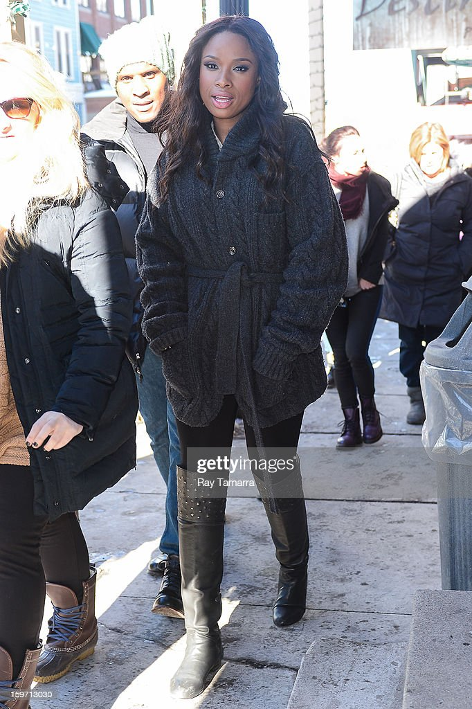 Actress Jennifer Hudson walks in Park City on January 18, 2013 in Park City, Utah.