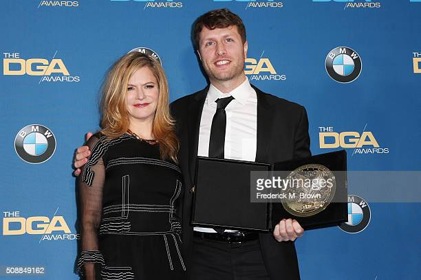 Actress Jennifer Jason Leigh and director Matthew Heineman winner of the Outstanding Directorial Achievement in Documentary Award for Cartel Land...