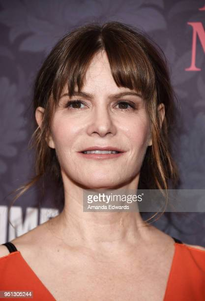 Actress Jennifer Jason Leigh arrives at the premiere of Showtime's 'Patrick Melrose' at the Linwood Dunn Theater on April 25 2018 in Los Angeles...