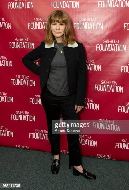 Actress Jennifer Jason Leigh attends SAGAFTRA Foundation Conversations with Patrick Melrose at SAGAFTRA Foundation Screening Room on June 4 2018 in...