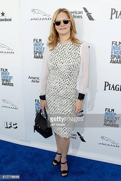 Actress Jennifer Jason Leigh attends the 2016 Film Independent Spirit Awards on February 27 2016 in Santa Monica California