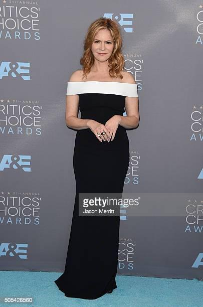 Actress Jennifer Jason Leigh attends the 21st Annual Critics' Choice Awards at Barker Hangar on January 17 2016 in Santa Monica California