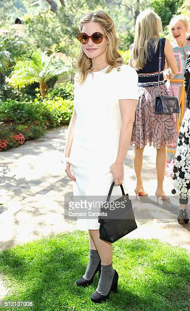 Actress Jennifer Jason Leigh attends the 3rd Annual DVF Oscar Luncheon honoring the female nominees of the 88th Academy Awards on February 24 2016 in...