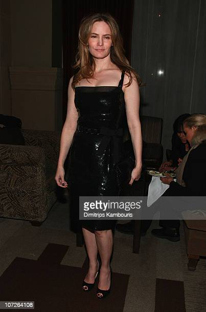 Actress Jennifer Jason Leigh attends the after party for Margot at the Wedding hosted by The Cinema Society Linda Wells at the SoHo Grand on November...