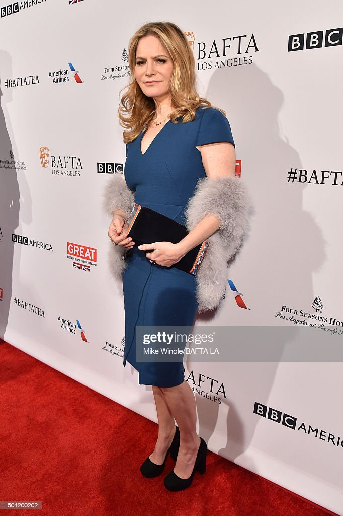 Actress Jennifer Jason Leigh attends the BAFTA Los Angeles Awards Season Tea at Four Seasons Hotel Los Angeles at Beverly Hills on January 9, 2016 in Los Angeles, California.
