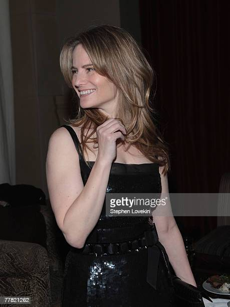 Actress Jennifer Jason Leigh attends the dinner for Margot At The Wedding hosted by The Cinema Society and Linda Wells and The SoHo Grand Hotel on...