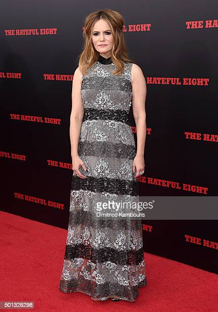 Actress Jennifer Jason Leigh attends the New York premiere of 'The Hateful Eight' on December 14 2015 in New York City