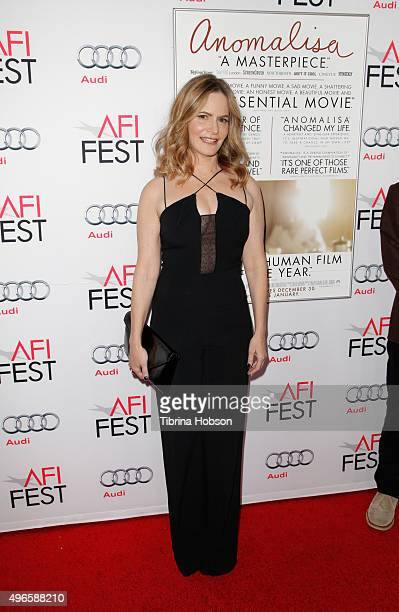 Actress Jennifer Jason Leigh attends the premiere of Paramount Pictures' Anomalisa during AFI FEST 2015 presented by Audi at the Egyptian Theatre on...