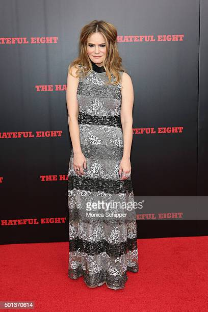 Actress Jennifer Jason Leigh attends the The New York Premiere Of 'The Hateful Eight' on December 14 2015 in New York City