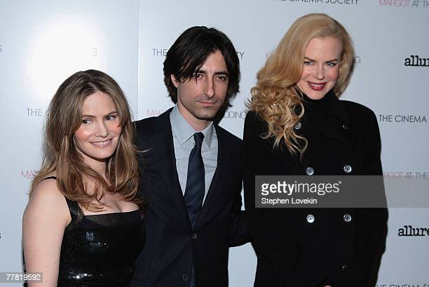 Actress Jennifer Jason Leigh director Noah Baumbach and actress Nicole Kidman attend a screening of Margot At The Wedding hosted by The Cinema...