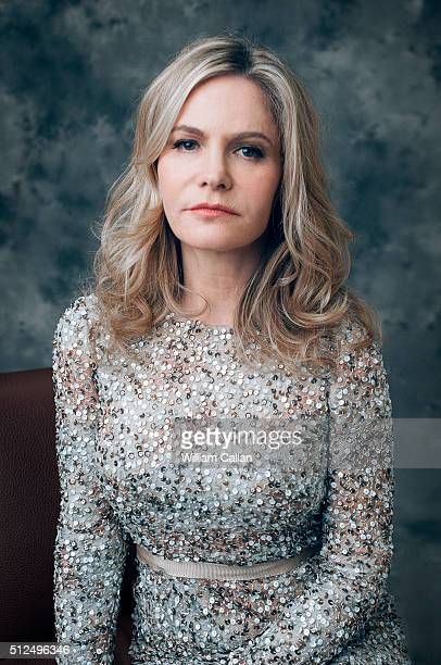 Actress Jennifer Jason Leigh poses for a portrait at the 18th Costume Designers Guild Awards at The Beverly Hilton Hotel on February 23 2016 in...